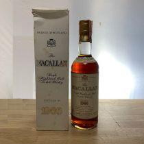 Whisky Macallan Single Malt 18 ans 1966 bouteille-70 cl