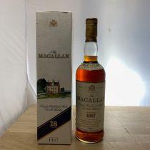 Whisky Macallan Single Malt 18 ans 1967 bouteille-70 cl