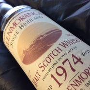 Whisky Glenmorangie Single Malt 1974 bouteille 70 cl
