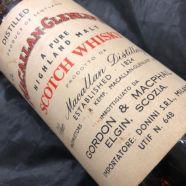 Whisky Macallan Pure Highland Malt 15 ans 1958 bouteille 70 cl